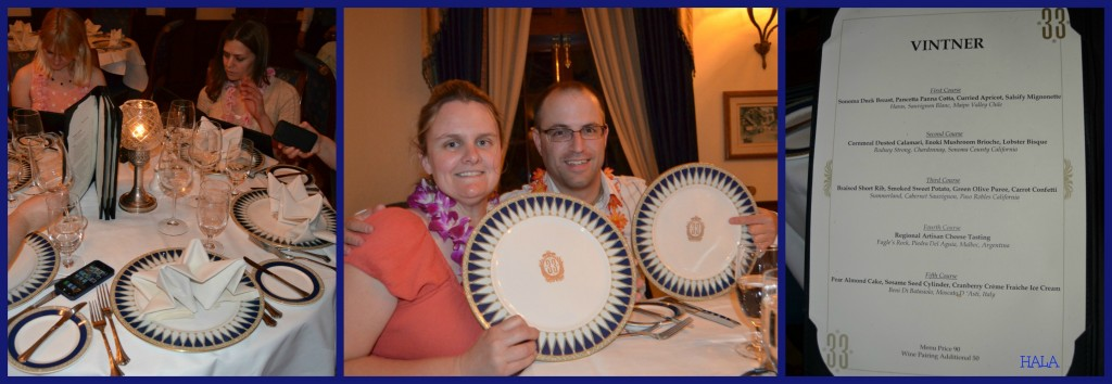 Club 33 Menus & Plates.. Fancy!