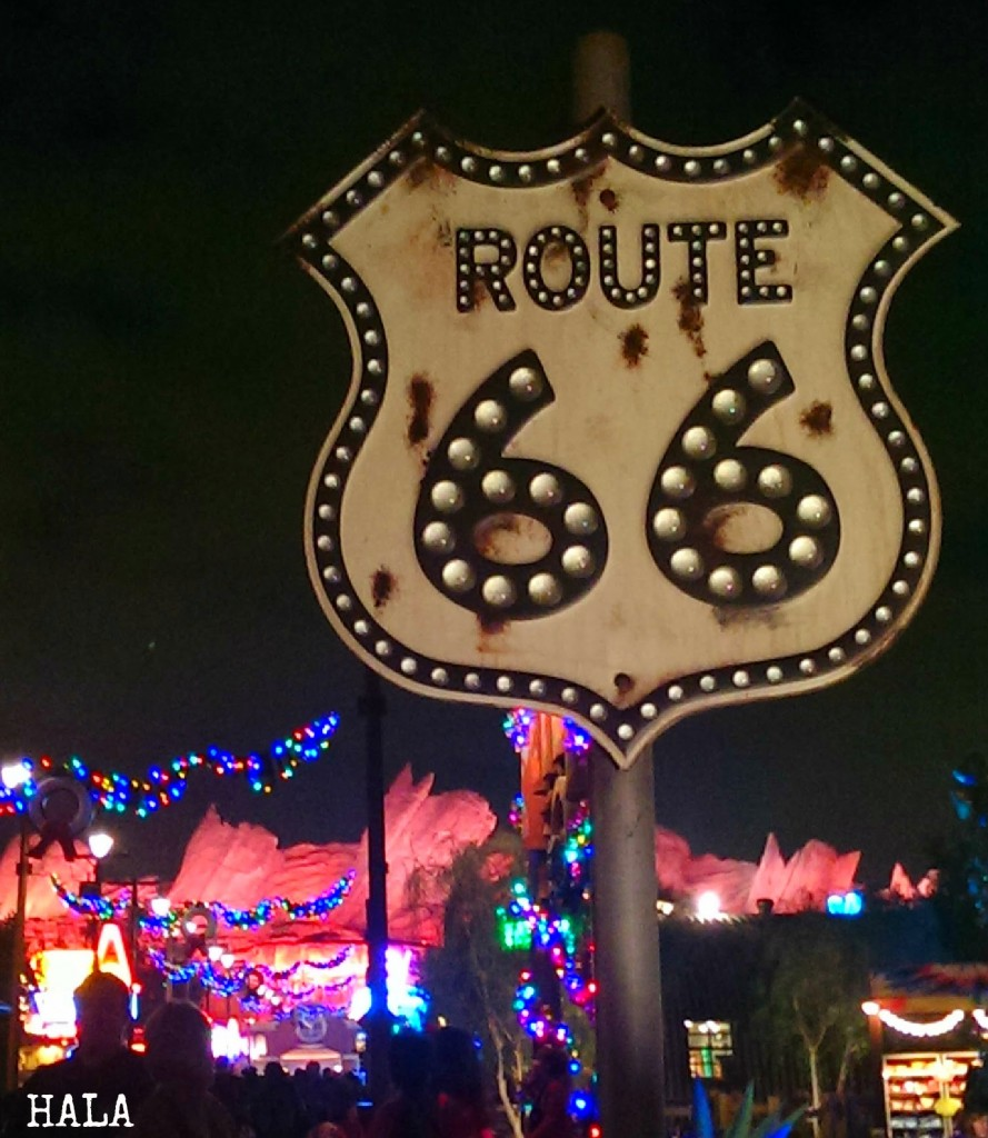 Disney At Night Route 66 Disney's CA Adventure