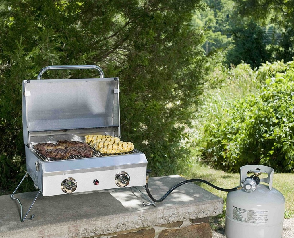 Portable Stainless Steel Gas Gril with Cover