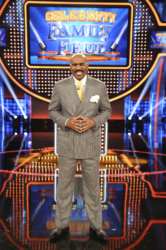 "CELEBRITY FAMILY FEUD - Watching two families spar off against each other in ""Family Feud"" is one of television's most popular and enduring game show formats. In the new primetime celebrity version produced by FremantleMedia North America, ""Celebrity Family Feud"" will take the fun to another level over the six-episode special series. Steve Harvey, the highly popular multi-hyphenate standup comedian, actor, author, deejay and Emmy Award-winning game show host, will pit celebrities against each other in a contest to name the most popular responses to a survey-type question posed to 100 people. ""Celebrity Family Feud"" premieres on SUNDAY, JUNE 21 (8:00-9:00 p.m., ET/PT) on the ABC Television Network. (ABC/Adam Taylor) STEVE HARVEY"