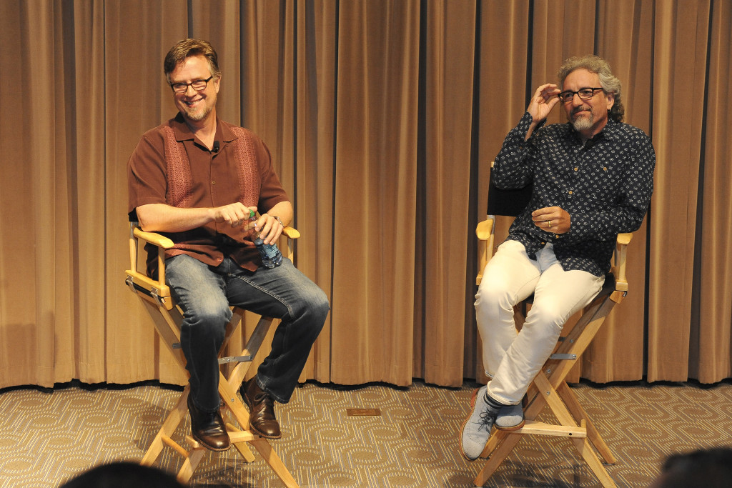 """Phineas and Ferb"" creators and executive producers Dan Povenmire and Jeff ""Swampy"" Marsh at a screening event to promote the ""Last Day of Summer"" in Burbank California on Monday, June 8. ""Phineas and Ferb: Last Day of Summer,"" premieres Friday, June 12 at 9:00 p.m. ET/PT as a simulcast on Disney XD and Disney Channel. (Disney XD/Valerie Macon) DAN POVENMIRE (CO-CREATOR/EXECUTIVE PRODUCER, ""PHINEAS AND FERB""), JEFF ""SWAMPY"" MARSH (CO-CREATOR/EXECUTIVE PRODUCER, ""PHINEAS AND FERB"")"