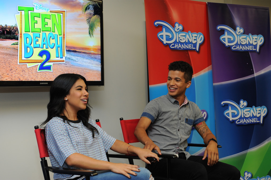 "TEEN BEACH 2 - ""Teen Beach 2"" stars Chrissie Fit and Jordan Fisher participate in a Mom blogger event to celebrate the movie's June 26, 2015 premiere. (Disney Channel/Valerie Macon) CHRISSIE FIT, JORDAN FISHER"