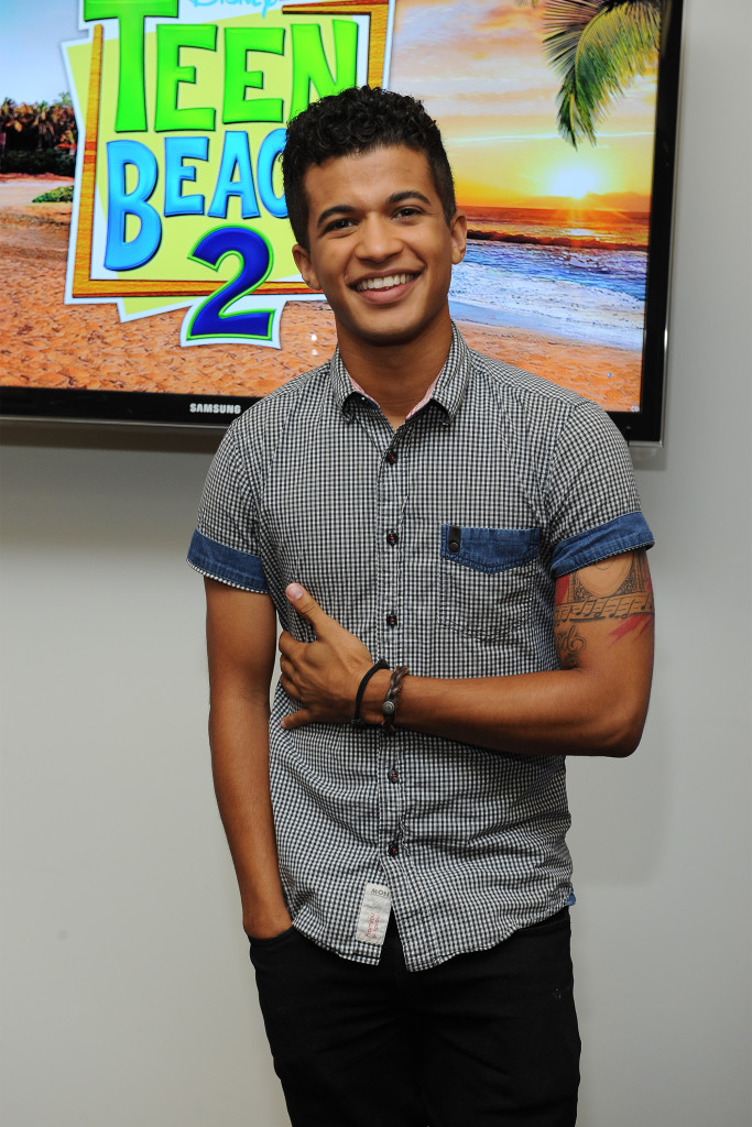 """TEEN BEACH 2 - """"Teen Beach 2"""" stars Chrissie Fit and Jordan Fisher participate in a Mom blogger event to celebrate the movie's June 26, 2015 premiere. (Disney Channel/Valerie Macon) JORDAN FISHER"""