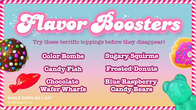 yogurtland candy crush flavor boosters