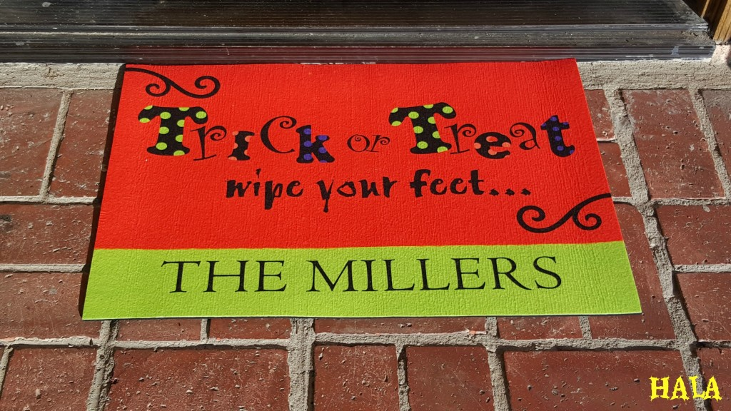 Personalization Mall-Halloween-Gifts-Welcome-Mats-Trick-Or-Treat-Gifts-Candy-Corn