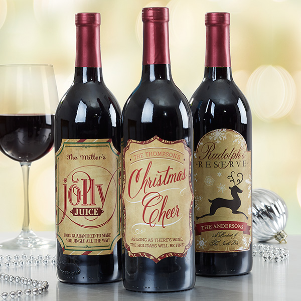Christmas Wine Lables