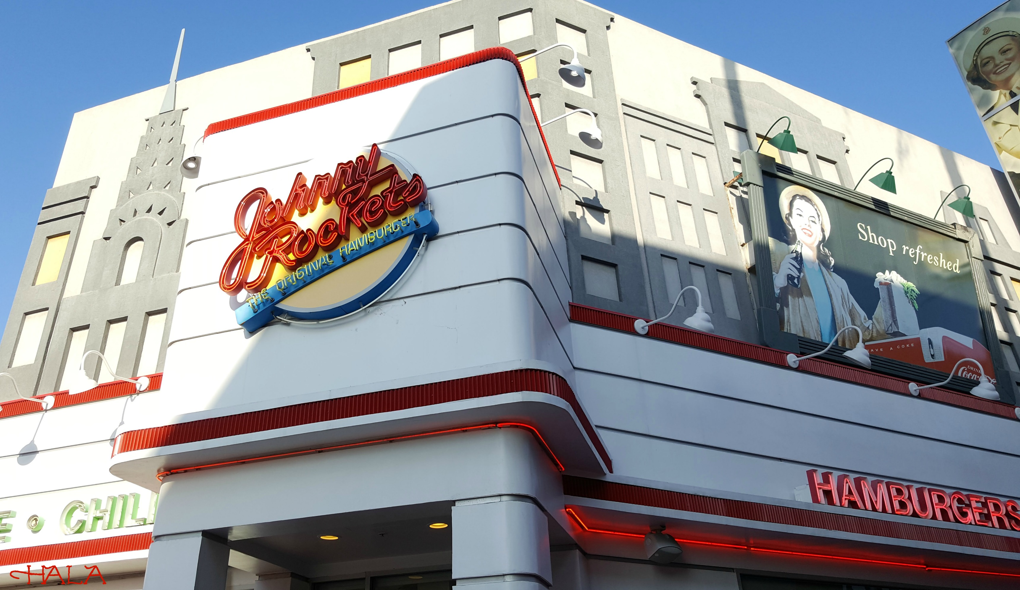 Johnny Rockets Block at Orange